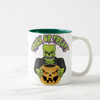 Frankenstein Skull Two-Tone Coffee Mug