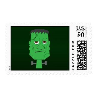 Frankenstein Stamp in Green
