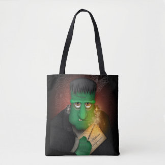 Frankenstein The Halloween Party Animal Tote Bag