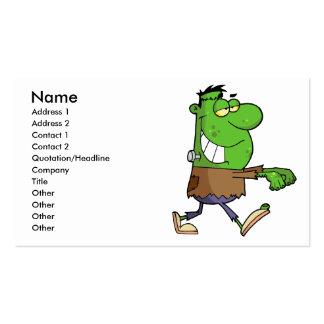 frankenstein tonto divertido del dibujo animado tarjetas de visita