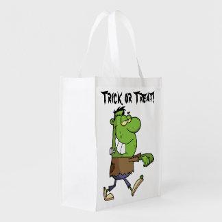 Frankenstein Trick or Treat Grocery Bag