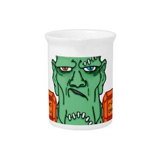 Frankenstein under weights drink pitchers