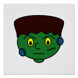 Frankenstein verde joven poster