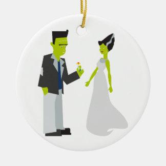 Frankenstein y novia adorno
