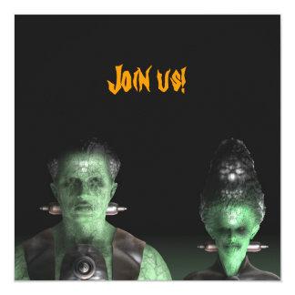 Frankenstein y novia - invitación del fiesta de