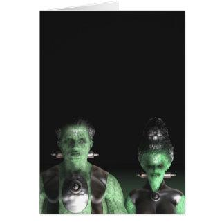 Frankenstein y novia - tarjeta de felicitación de