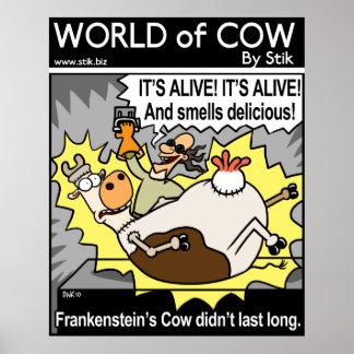 Frankenstein's Cow Poster