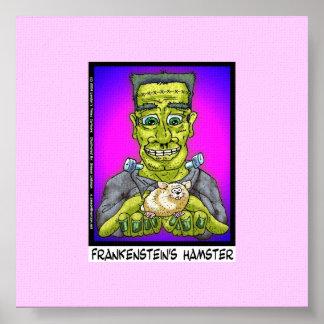 Frankenstein's Hamster Funny Canvas Print