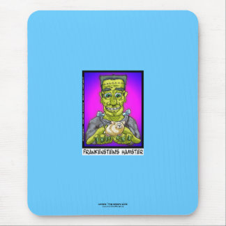 Frankenstein's Hamster Funny Cartoon Mouse Pad
