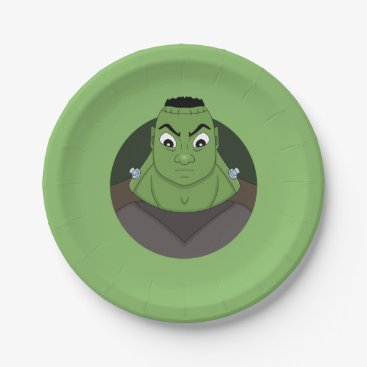 Frankenstein's Monster cartoon paper plates