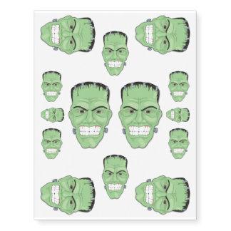 Frankensteins Monster Head skin decoration Temporary Tattoos