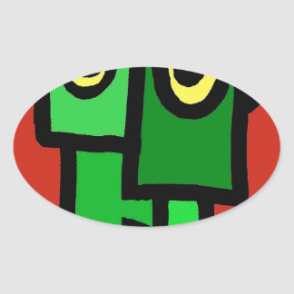 Frankenstein's Munster. Oval Sticker
