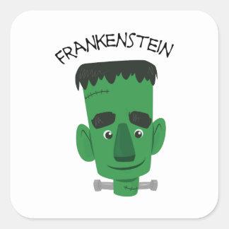 Frankensten Pegatina Cuadradas Personalizada
