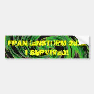 Frankenstorm 2012 pegatina para auto