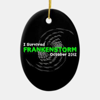 Frankenstorm Adorno Navideño Ovalado De Cerámica