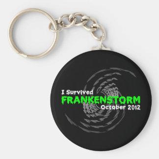 Frankenstorm Basic Round Button Keychain