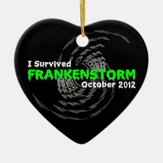 Frankenstorm Ceramic Ornament