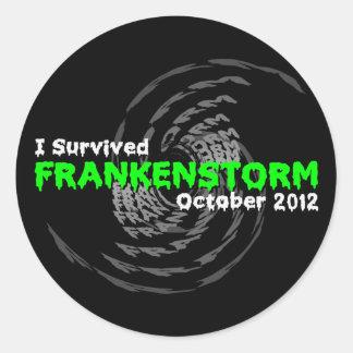 Frankenstorm Classic Round Sticker