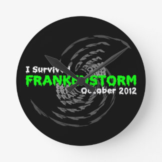 Frankenstorm Round Wallclocks
