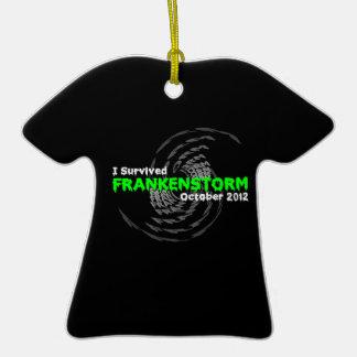 Frankenstorm Adorno De Cerámica En Forma De Camiseta