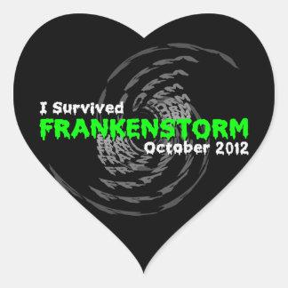 Frankenstorm Heart Sticker