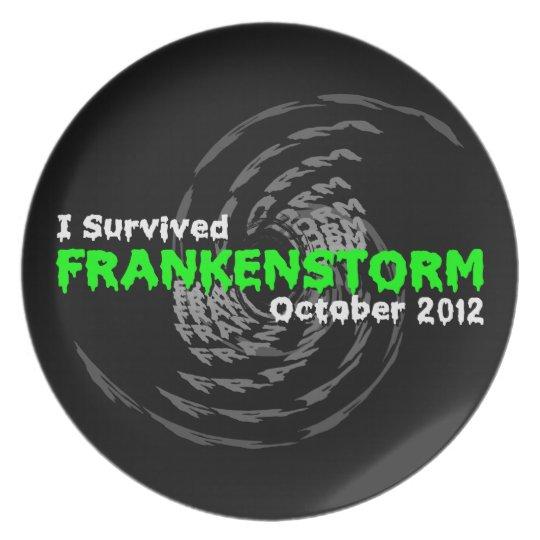Frankenstorm Melamine Plate