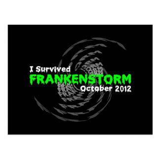 Frankenstorm Postcard