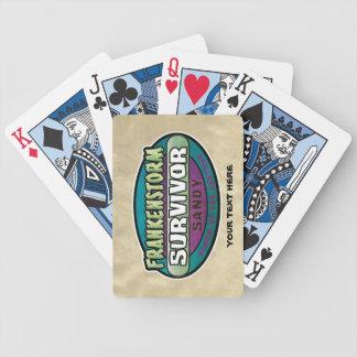 Frankenstorm Sandy Survivor Cards Bicycle Playing Cards