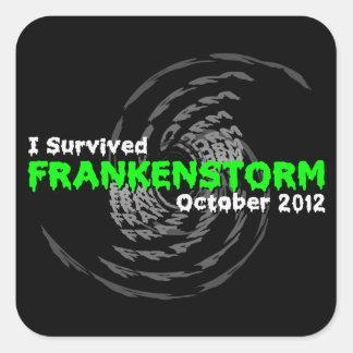 Frankenstorm Square Sticker