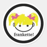 ¡frankette! pegatina (del blonde)
