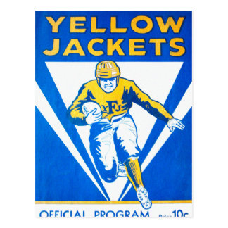 Frankford Yellow Jackets Program Postcard