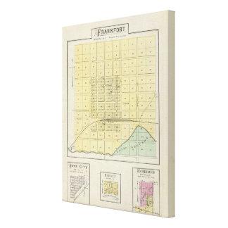 Frankfort, Home City, Bremen, and Herkimer, Kansas Canvas Print
