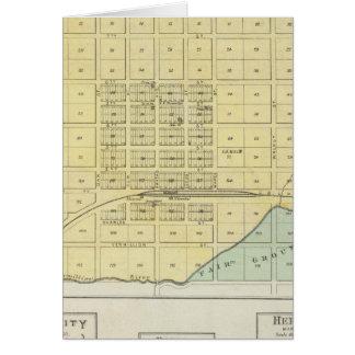 Frankfort, Home City, Bremen, and Herkimer, Kansas Greeting Card