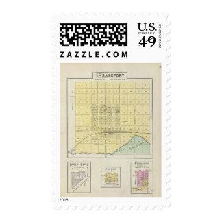 Frankfort, Home City, Bremen, and Herkimer, Kansas Stamp