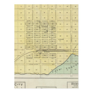 Frankfort, Home City, Bremen, and Herkimer, Kansas Postcard