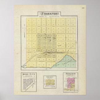 Frankfort, Home City, Bremen, and Herkimer, Kansas Poster