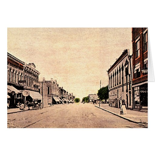 Frankfort, Indiana Main Street 1910 Card