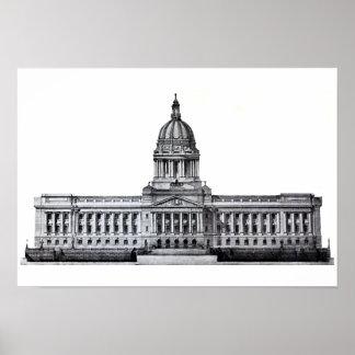 Frankfort Kentucky Kentucky State Capitol Building Poster
