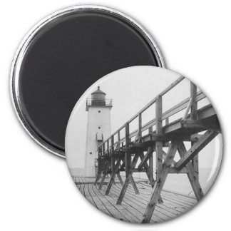 Frankfort Lighthouse 2 Inch Round Magnet