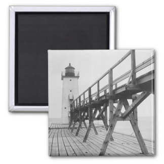 Frankfort Lighthouse 2 Inch Square Magnet