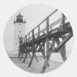 Frankfort Lighthouse Round Sticker