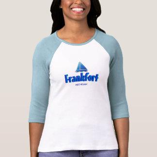 Frankfort, Michigan - Ladies 3/4 Sleeve Raglan T-shirts