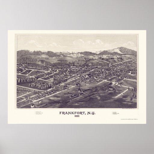 Frankfort, New York Panoramic Map - 1887 Print