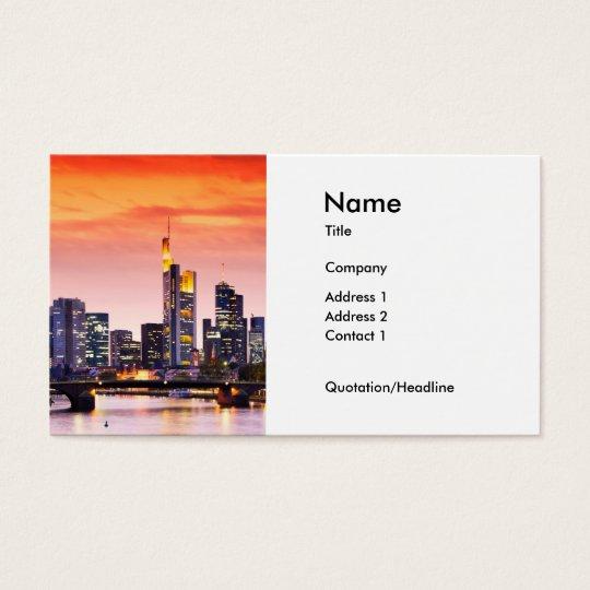 Frankfurt am Main 002A Business Card