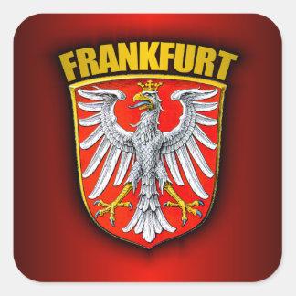 Frankfurt-am-Main Pegatina Cuadrada