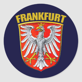 Frankfurt-am-Main Pegatina Redonda