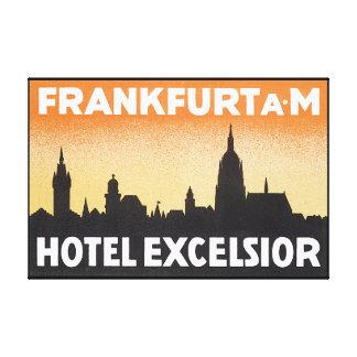 Frankfurt AM_Vintage Travel Poster Artwork Canvas Print