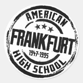 Frankfurt American High School Classic Round Sticker