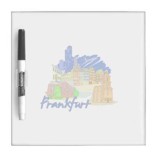frankfurt city blue  travel vacation design.png dry erase board