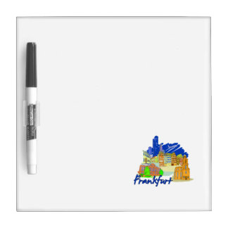 frankfurt city blue  travel vacation design.png dry erase boards